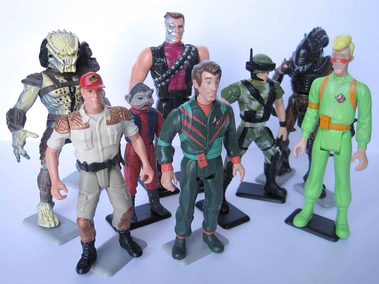 The Earth Vintage Action Figure Stands