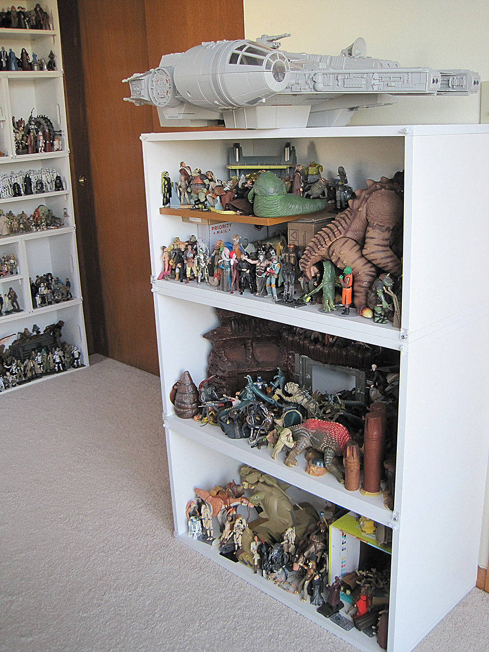 Right side of display